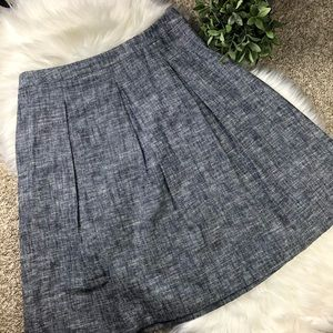 Talbots Linen Pleated Midi Skirt, Fully Lined
